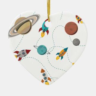 Wellcoda Meet You In Galaxy Mad Planet Ceramic Ornament