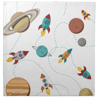 Wellcoda Meet You In Galaxy Mad Planet Cloth Napkin
