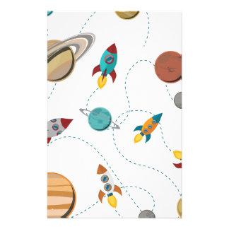 Wellcoda Meet You In Galaxy Mad Planet Stationery