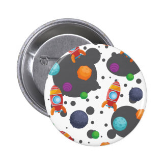 Wellcoda Meet You In Space Fun Mad Planet 2 Inch Round Button