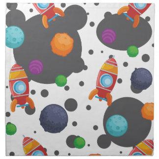 Wellcoda Meet You In Space Fun Mad Planet Cloth Napkin