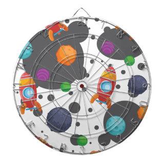 Wellcoda Meet You In Space Fun Mad Planet Dart Board