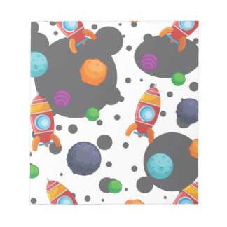 Wellcoda Meet You In Space Fun Mad Planet Notepad