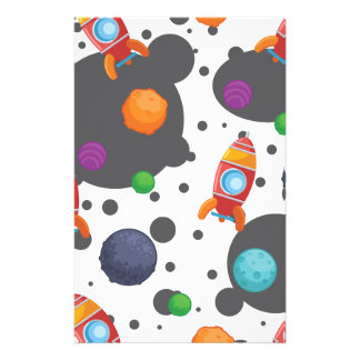 Wellcoda Meet You In Space Fun Mad Planet Stationery