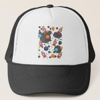 Wellcoda Meet You In Space Fun Mad Planet Trucker Hat