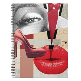 Wellcoda Merilyn Beauty Art Monroe Lip Notebook