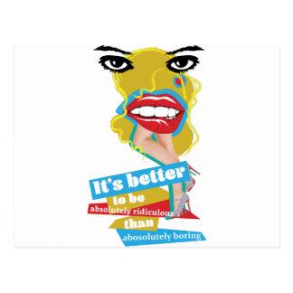 Wellcoda Merilyn Monroe Lip Dada Art Postcard