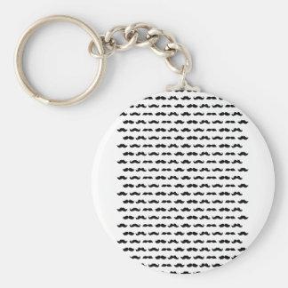 Wellcoda Moustache Epic Print Facial Hair Keychain