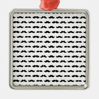 Wellcoda Moustache Epic Print Facial Hair Metal Ornament