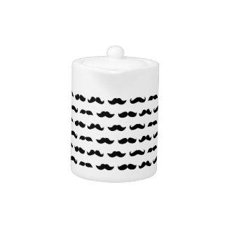 Wellcoda Moustache Epic Print Facial Hair Teapot