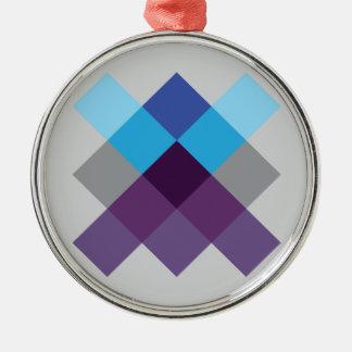 Wellcoda Multi Square Circle Crazy Pattern Metal Ornament