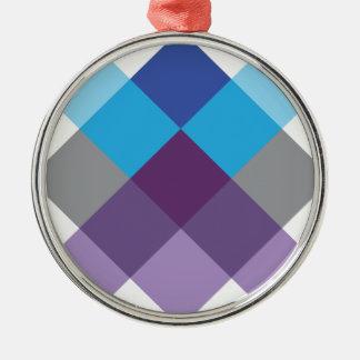 Wellcoda Multi Square Cross Crazy Pattern Metal Ornament