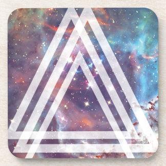 Wellcoda Multi Triangle Space Universe Fun Beverage Coaster