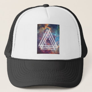 Wellcoda Multi Triangle Space Universe Fun Trucker Hat