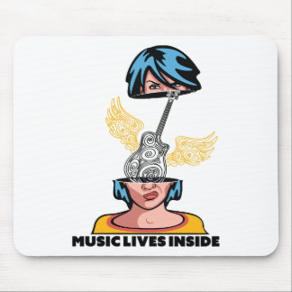 Wellcoda Music Lives Inside Brain Beats Mouse Pad