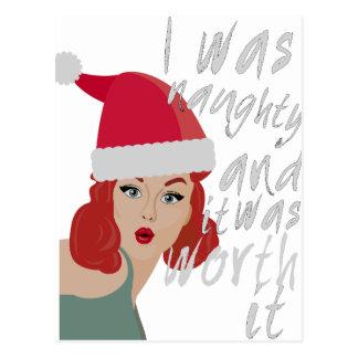 Wellcoda Naughty Christmas Fun Being Bad Postcard