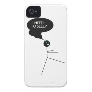 Wellcoda Need Sleep Stick Man Sleepwalk iPhone 4 Case