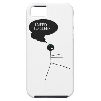 Wellcoda Need Sleep Stick Man Sleepwalk iPhone SE/5/5s Case