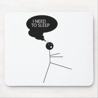 Wellcoda Need Sleep Stick Man Sleepwalk Mouse Pad