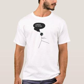 Wellcoda Need Sleep Stick Man Sleepwalk T-Shirt