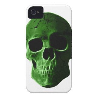 Wellcoda Neon Glow Skull Head Scary Face iPhone 4 Cover