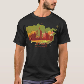 Wellcoda New York City NYC USA Liberty T-Shirt