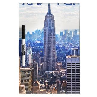 Wellcoda New York City NYC USA Urban Life Dry-Erase Board
