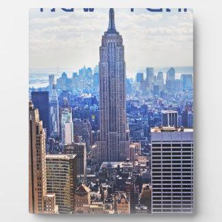 Wellcoda New York City NYC USA Urban Life Plaque