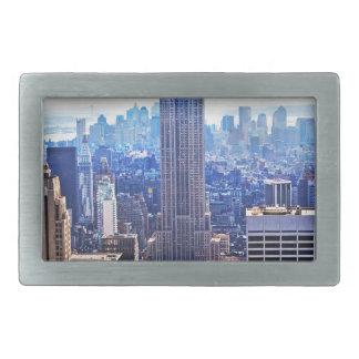 Wellcoda New York City NYC USA Urban Life Rectangular Belt Buckles