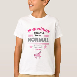 Wellcoda Normal Chase Unicorns Myth Fun T-Shirt