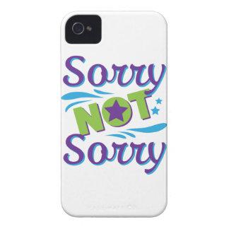 Wellcoda Not Sorry Fun Apology Crazy Fake iPhone 4 Case-Mate Case