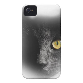 Wellcoda One Eyed Black Cat Freaky Kitten iPhone 4 Case-Mate Case
