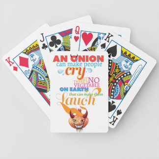 Wellcoda Onion People Cry Evil Vegetable Bicycle Playing Cards