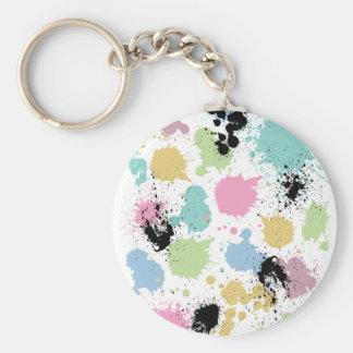 Wellcoda Paint Fun Splat Effect Colourful Keychain