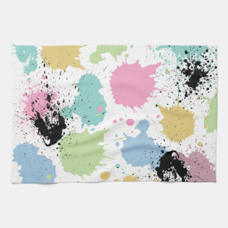 Wellcoda Paint Fun Splat Effect Colourful Kitchen Towel