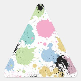 Wellcoda Paint Fun Splat Effect Colourful Triangle Sticker