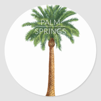 Wellcoda Palm Springs Holiday Summer Fun Classic Round Sticker
