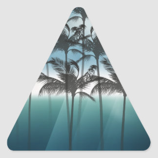 Wellcoda Palm Tree Holiday Fun Vacation Triangle Sticker