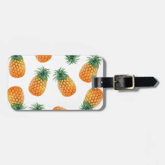 Wellcoda Pineapple Fruit Bowl Summer Fun Bag Tag