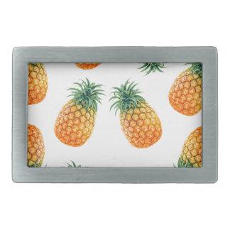 Wellcoda Pineapple Fruit Bowl Summer Fun Belt Buckle