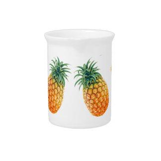Wellcoda Pineapple Fruit Bowl Summer Fun Drink Pitcher