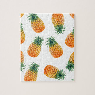 Wellcoda Pineapple Fruit Bowl Summer Fun Jigsaw Puzzle