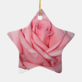 Wellcoda Pink Rose Romantic Flower Power Ceramic Ornament