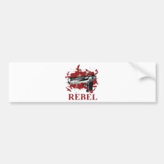 Wellcoda Pistol Blood Bullet Rabel Bird Bumper Sticker