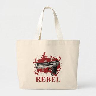 Wellcoda Pistol Blood Bullet Rabel Bird Large Tote Bag