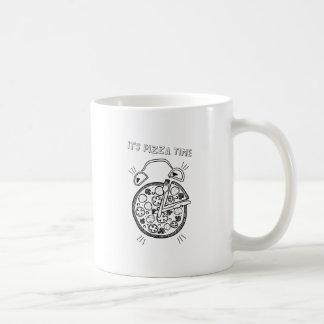 Wellcoda Pizza Time Clock Eat Funny Watch Coffee Mug