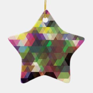 Wellcoda Polygon Colour Shape Crazy Pattern Ceramic Ornament