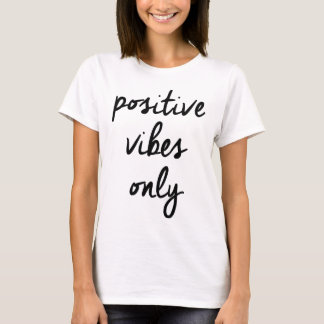 Wellcoda Positive Vibes Only UK Positivity T-Shirt