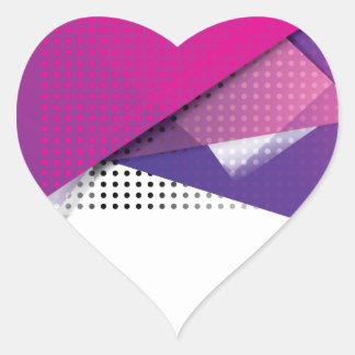 Wellcoda Purple Triangle Print Trend Set Heart Sticker