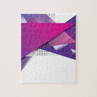 Wellcoda Purple Triangle Print Trend Set Jigsaw Puzzle